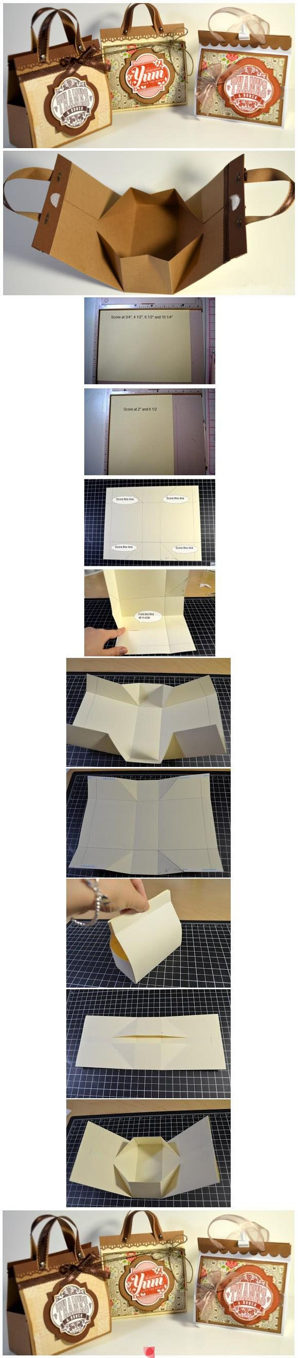 bolsa caja Gift boxes from paper bags? They look great!