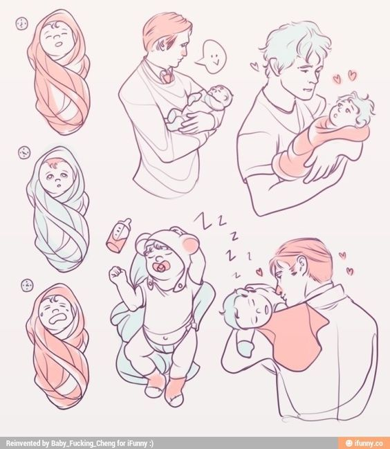 holding a baby | Baby drawing, Sketches, Drawing reference