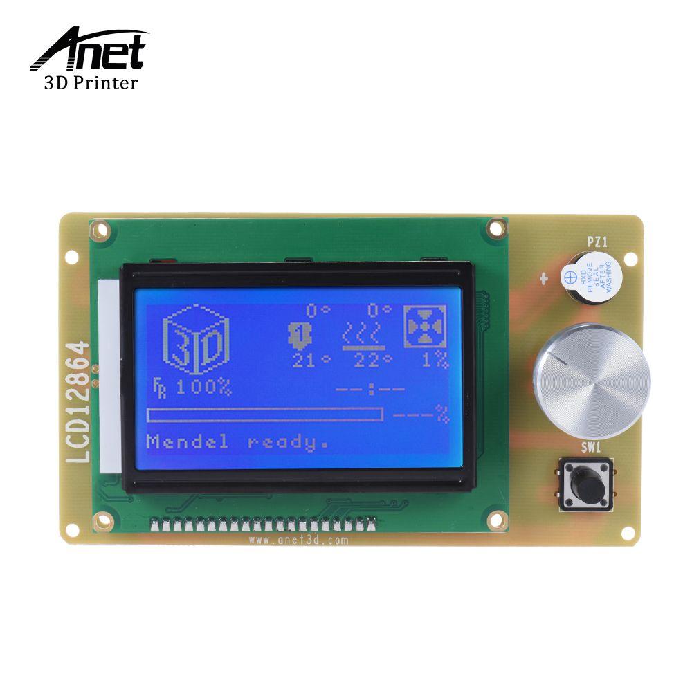 Anet 12864 LCD Smart Display-Controller mit Kabel für RAMPEN Arduino ...