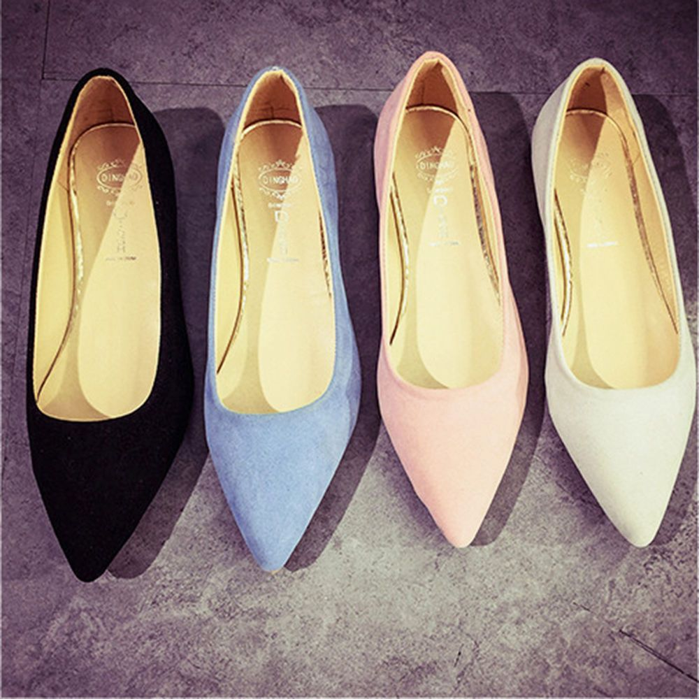 Women Pointed Toe Loafers Ballet Flats