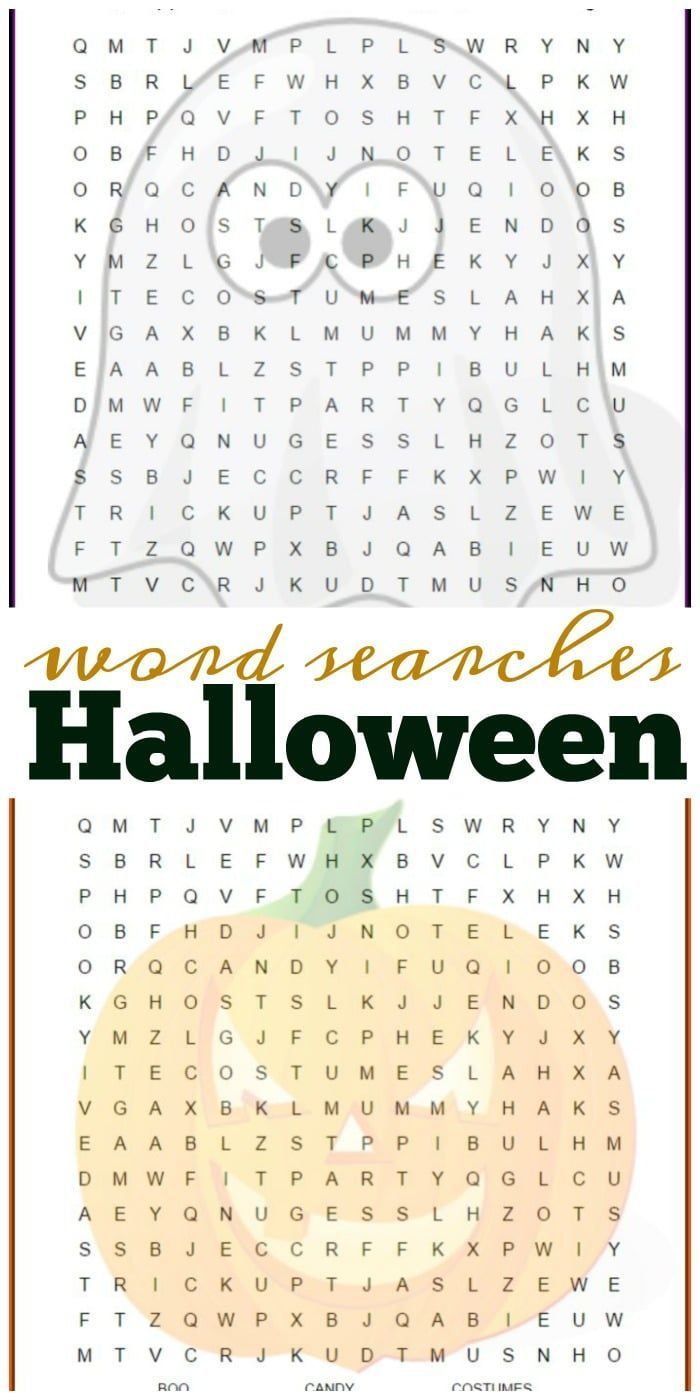 2 free halloween word search printable pages you can give your kids or students lots - Free Halloween Printables For Kids 2
