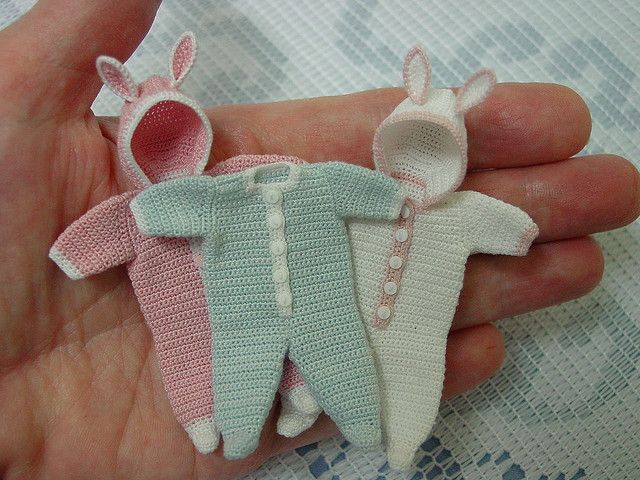 Tiny Baby Clothes My Miniatures Crochet Doll Clothes