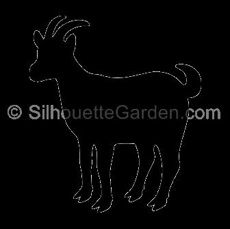Goat Silhouette Animal Line Drawings Goat Art Animal Silhouette