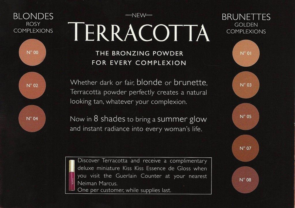 Guerlain Terracotta Bronzing Powder Color Chart