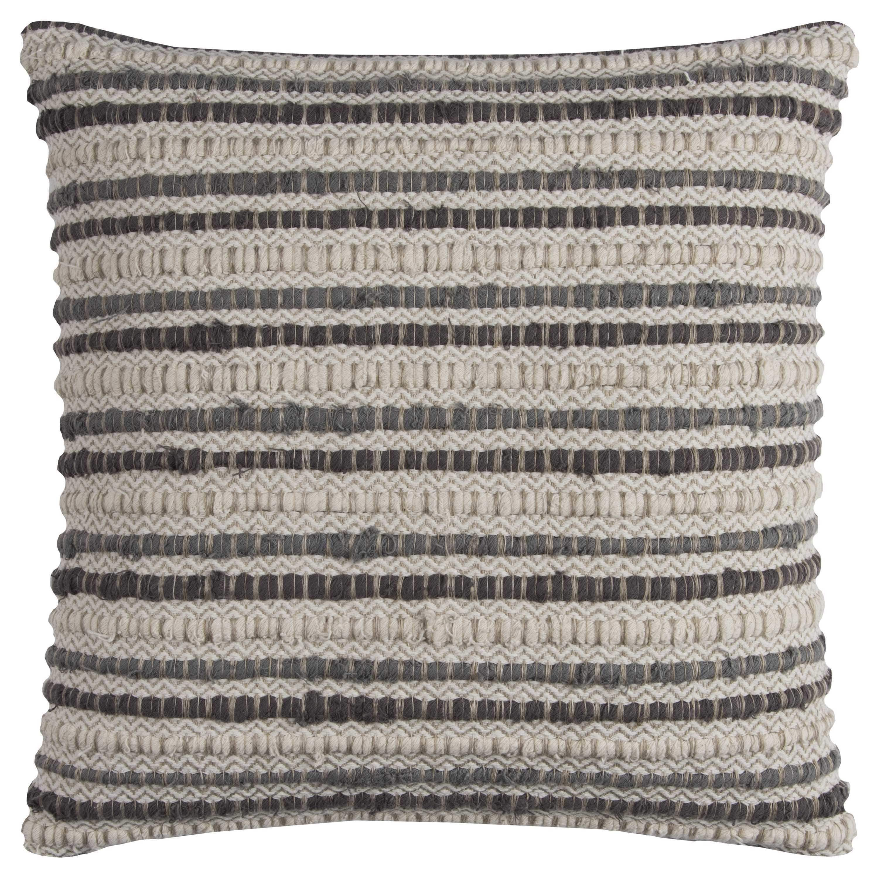 Rizzy home stripe textured linencotton inch throw pillow