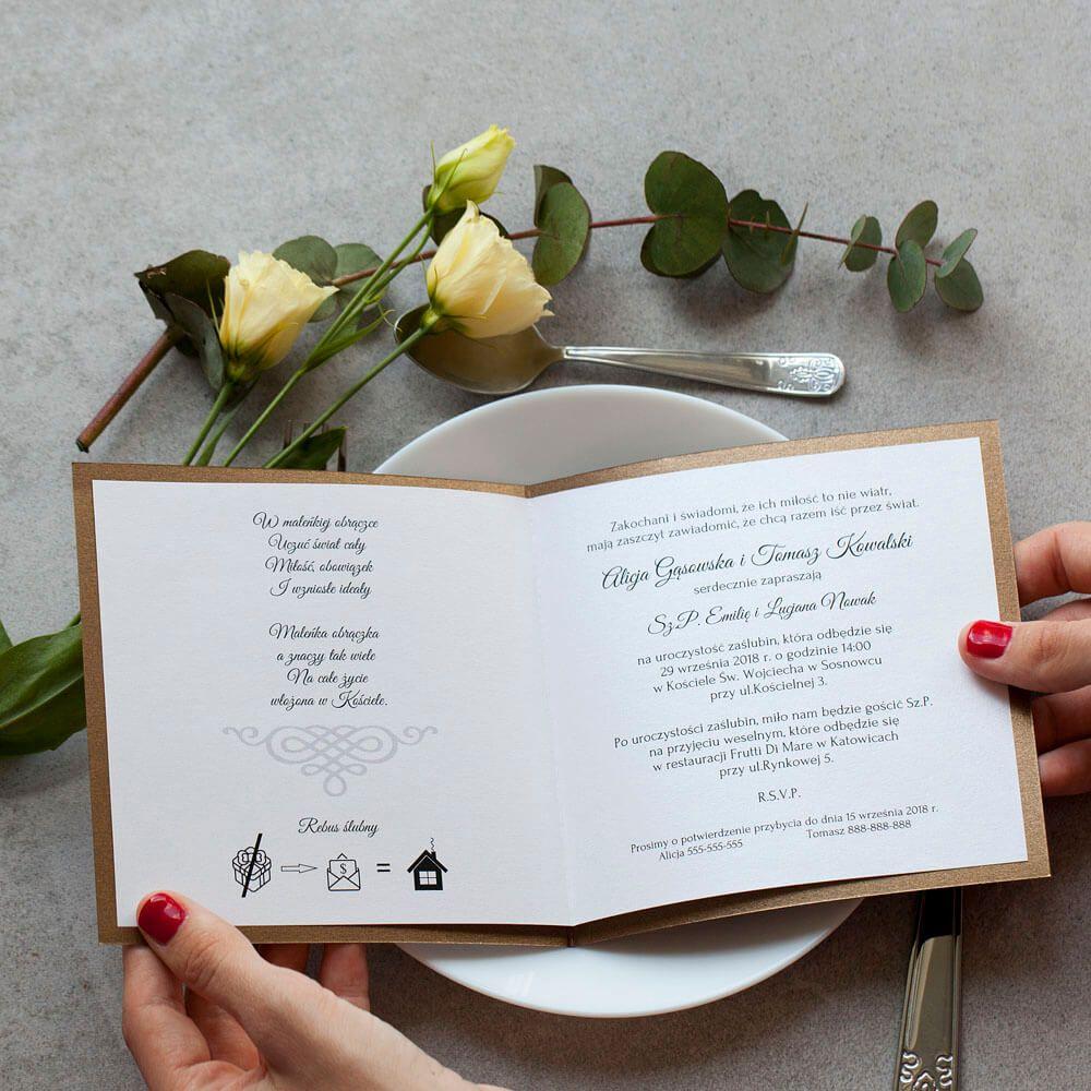 Zaproszenia Diamentowe Stare Zloto With Images Zaproszenia