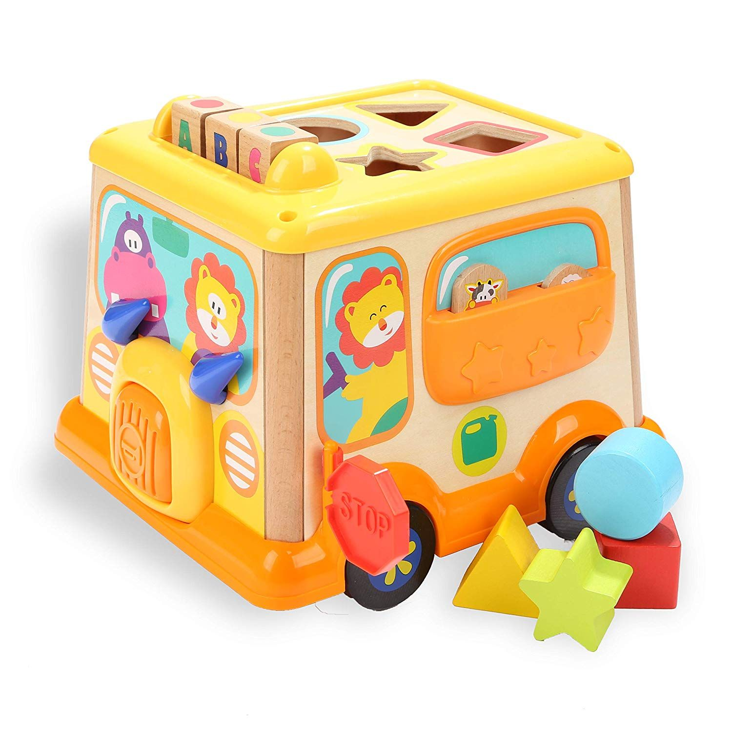 TOP BRIGHT Activity Cube Toys Baby Wooden Educational ...
