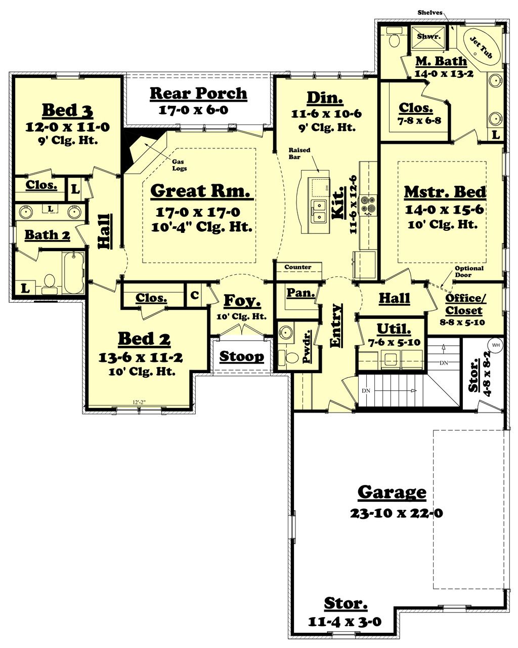 Traditional Style House Plan 3 Beds 2 5 Baths 1800 Sq Ft Plan 430 60 Country Style House Plans House Floor Plans Floor Plans