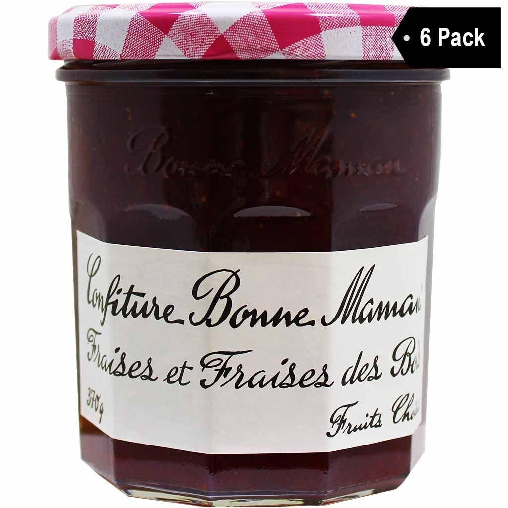 Bonne maman french wild strawberry jam 13 oz x 6