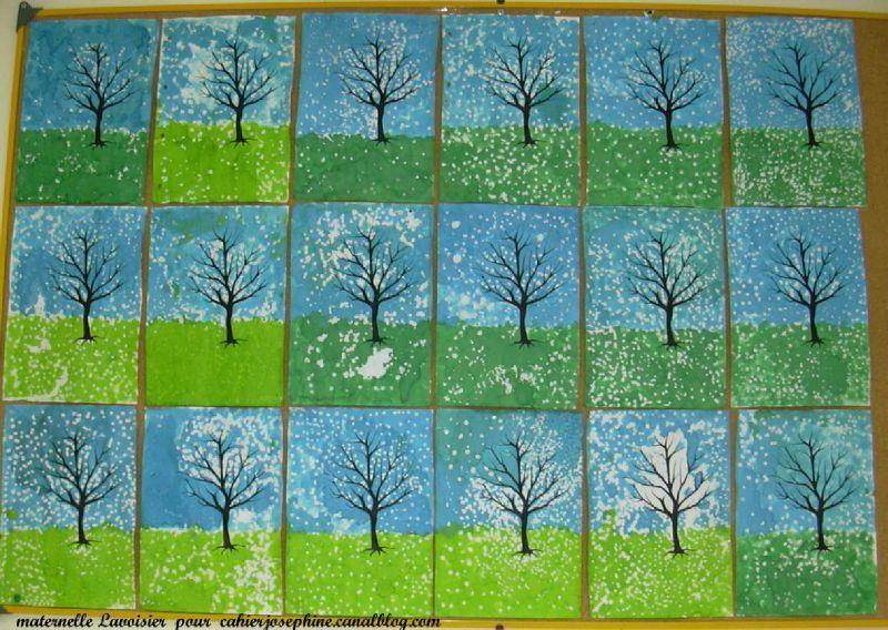 peinture arbre hiver arts visuels hivers pinterest peinture arbre hiver et peinture. Black Bedroom Furniture Sets. Home Design Ideas