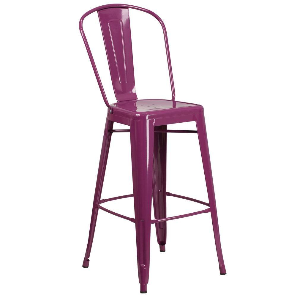 High purple bar stool