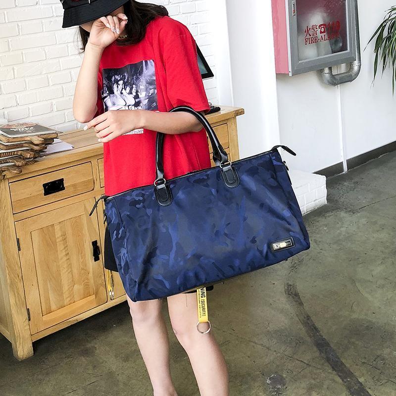 4e05ae7ec 2018 Brand New Travel Bag Camouflage Fashion Street Large Capacity Nylon  Bag Men Women Befree Luggage