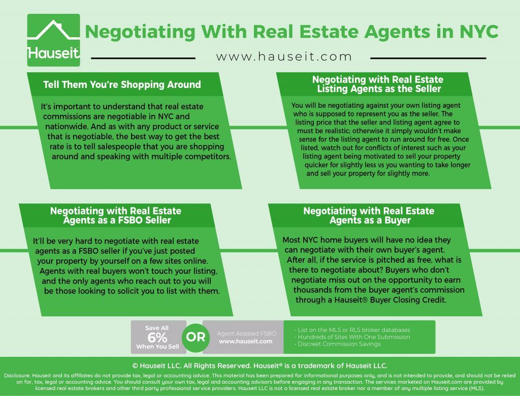 Negotiating With Real Estate Agents In Nyc Hauseit Real Estate Agent Estate Agent Real Estate