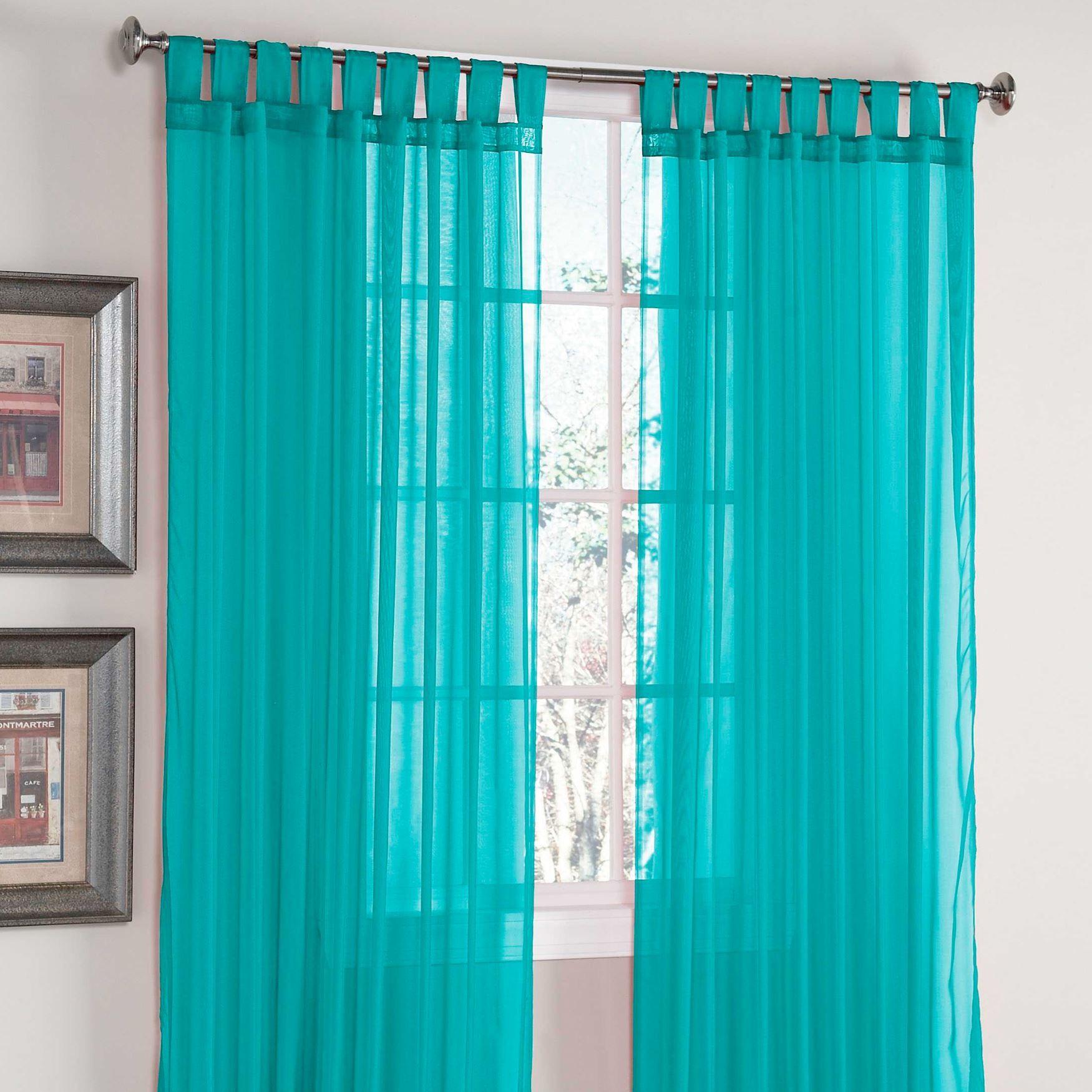 tab top sheer curtains. BrylaneHome® Studio Voile Tab-Top Curtain Tab Top Sheer Curtains D