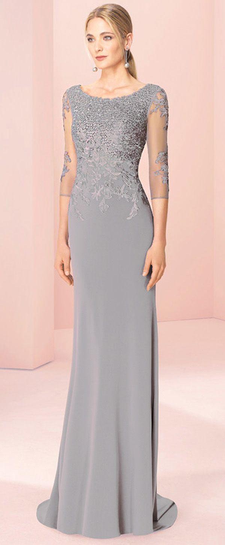 3/4 length lace wedding dress  Marvelous Tulle u Spandex Bateau Neckline  Length Sleeves Sheath