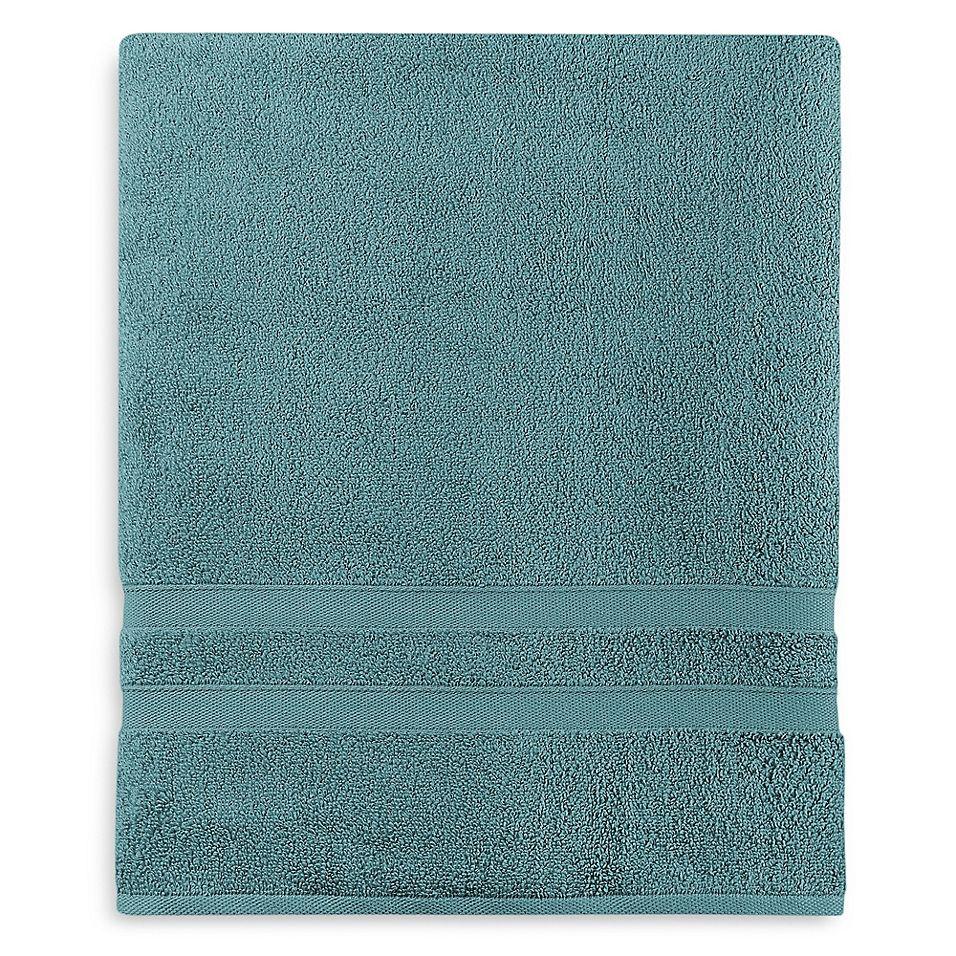 Wamsutta Ultra Soft Micro Cotton Bath Sheet In Teal Bath Sheets