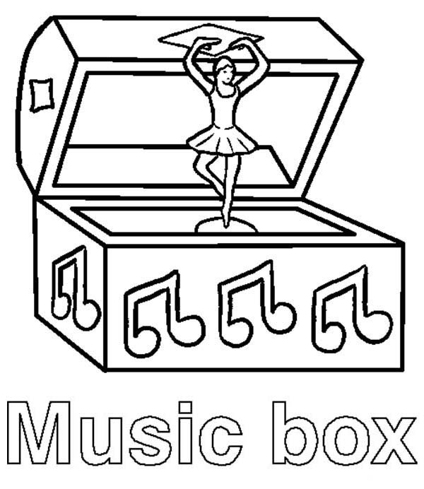 Music Box Coloring Page Coloring Sun Coloring Pages Music Box Coloring Pages For Kids