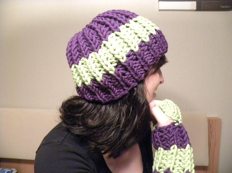 Stricken - Mütze Patentmuster aus HATNUT cool - mit 2 Farben | pan 2 ...
