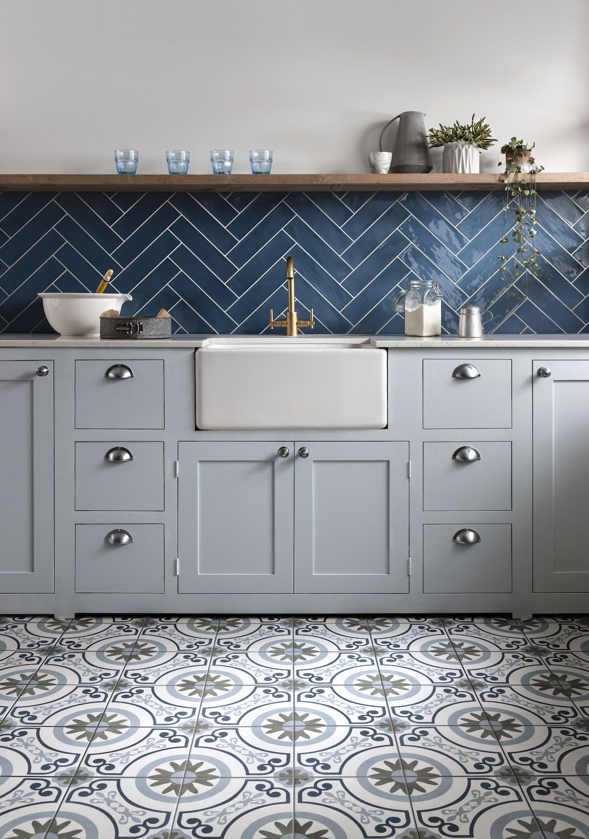 A Kitchen To Admire Our Havana And Poitiers Tiles Perfectly