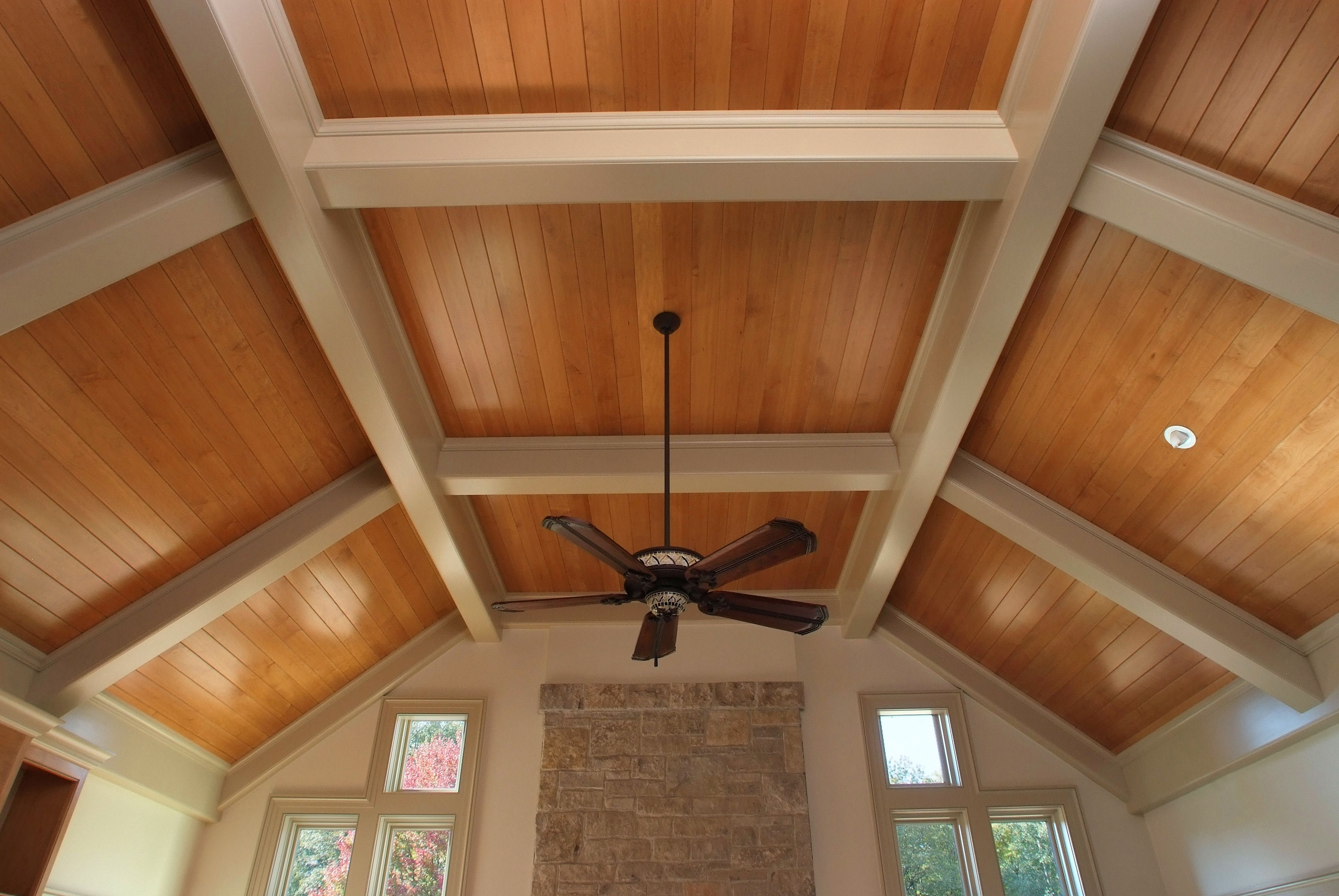 Tongue And Groove Coffered Ceiling