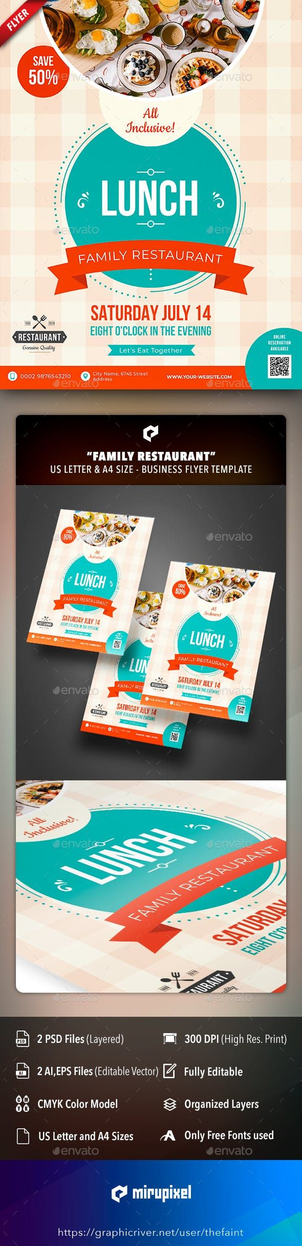 Family Restaurant Business Flyer by thefaint