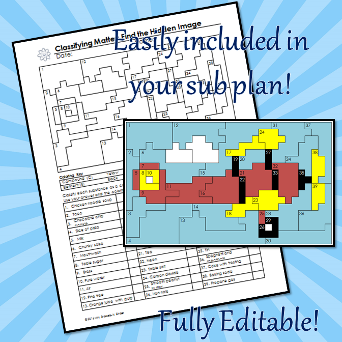 Classifying Matter Coloring and Puzzle Review - Editable   My Store ...