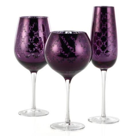 Montecito Glassware - Set of 4 - Aubergine from Z Gallerie