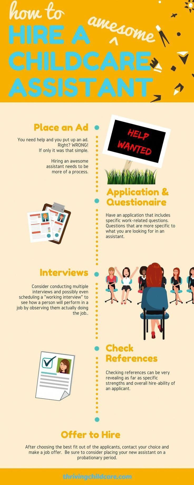How to Hire a Childcare Assistant Childcare, Starting a