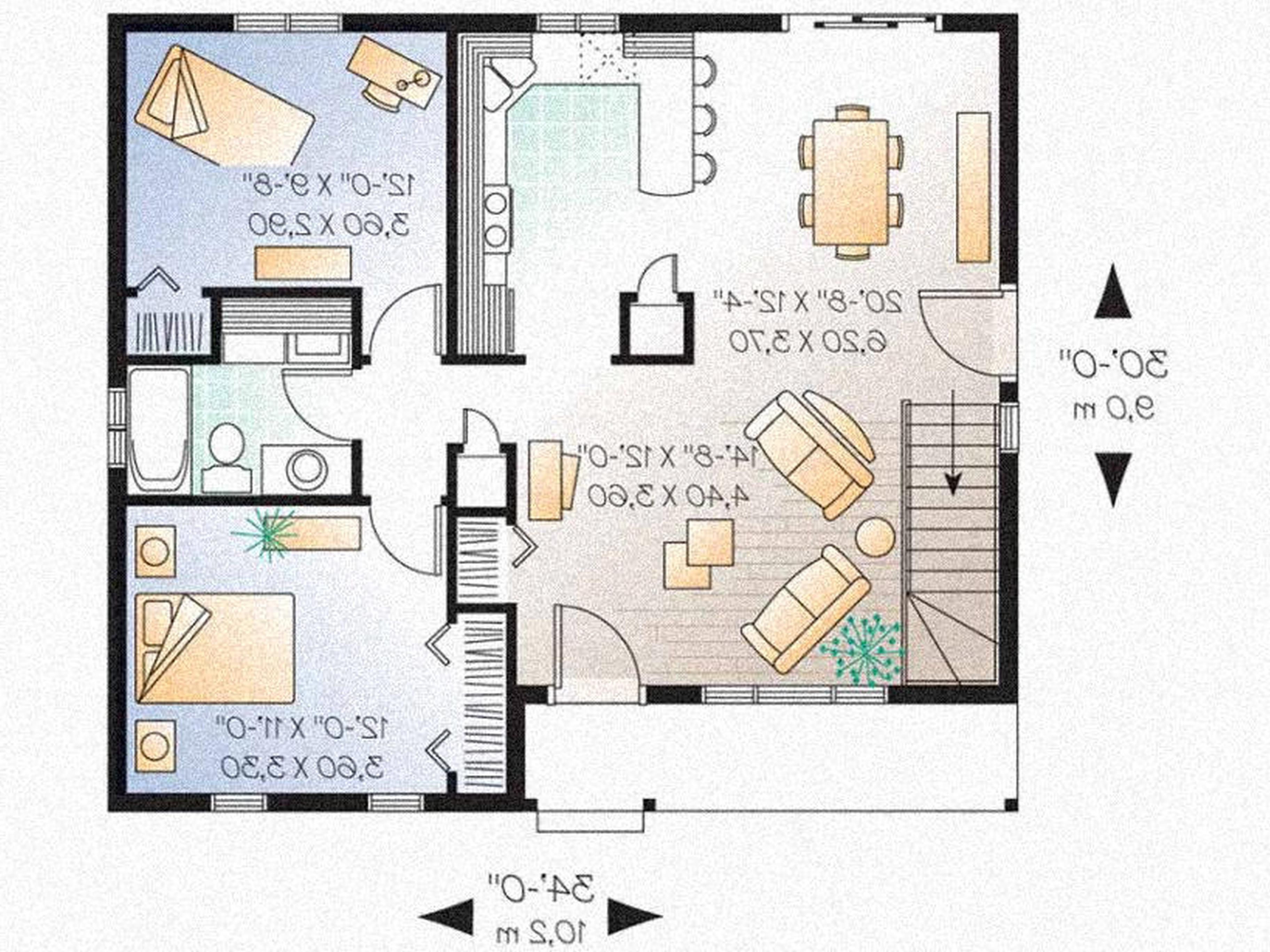 2 Bedroom House Plans With Garage Stairs Pinned By Www Modlar Com Floor Plan Design Bedroom House Plans One Floor House Plans