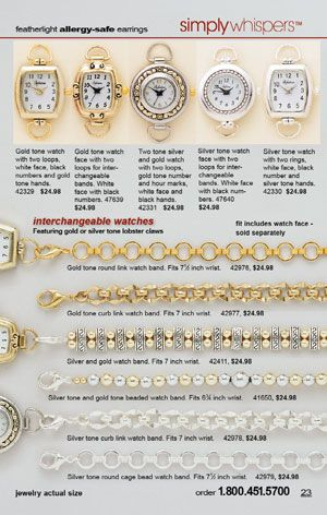 Simply Whispers Back To School 2013 Page 23 Hypoallergenic Earrings Interchangeable Watch Bands Earrings