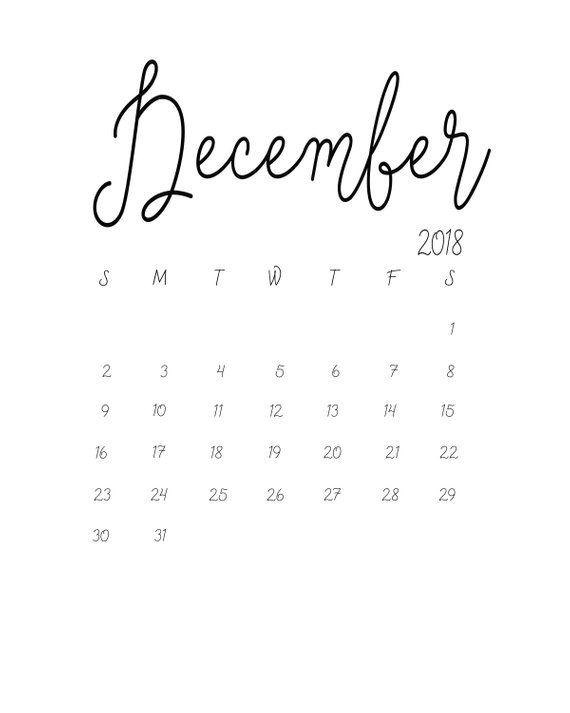 December 2019 December Calendar Svg Pinterest