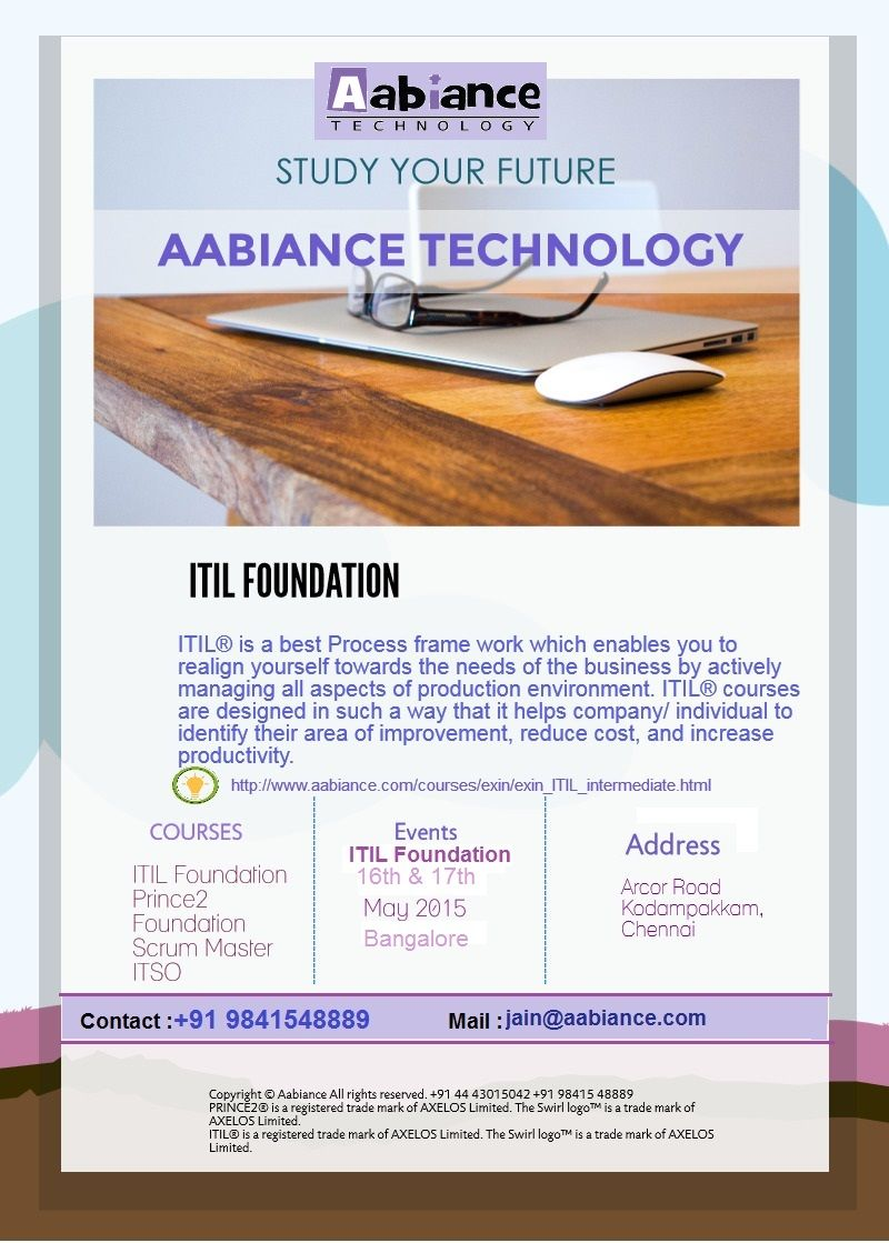 Itil Foundation Course Started In Bangalorefull Details About The