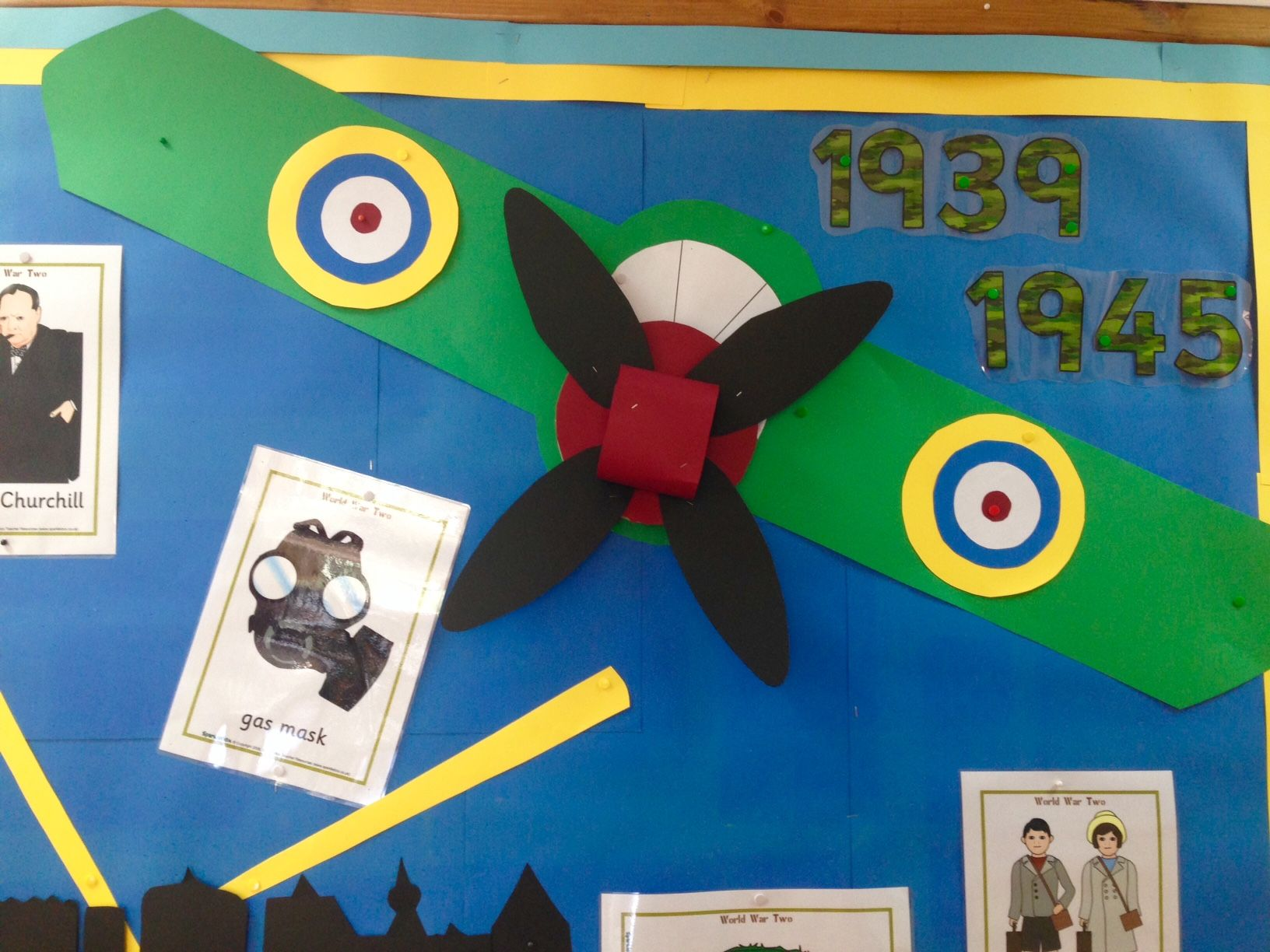 World War Two Display With Qr Code