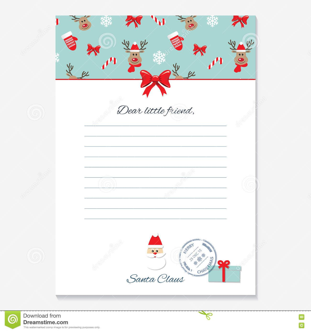 Christmas Letter From Santa Claus Template Stock In Blank Letter From Santa Template Great Santa Letter Template Christmas Letter From Santa Santa Template