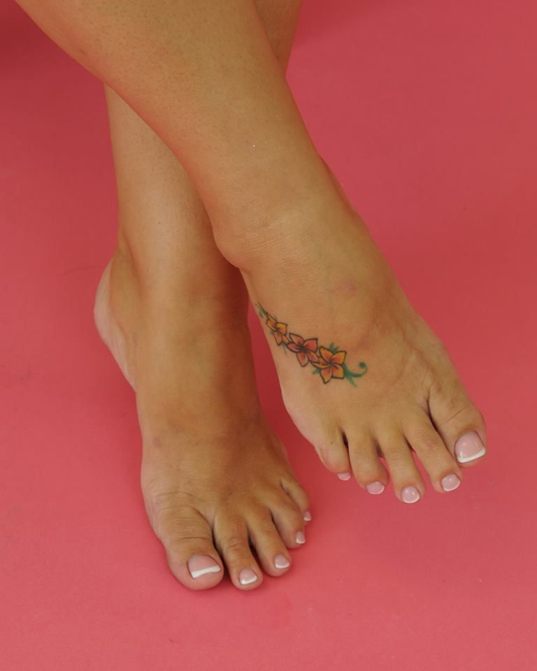 Beautiful Pink And White Acrylic Overlay On Toes Nails By Jennifer Main