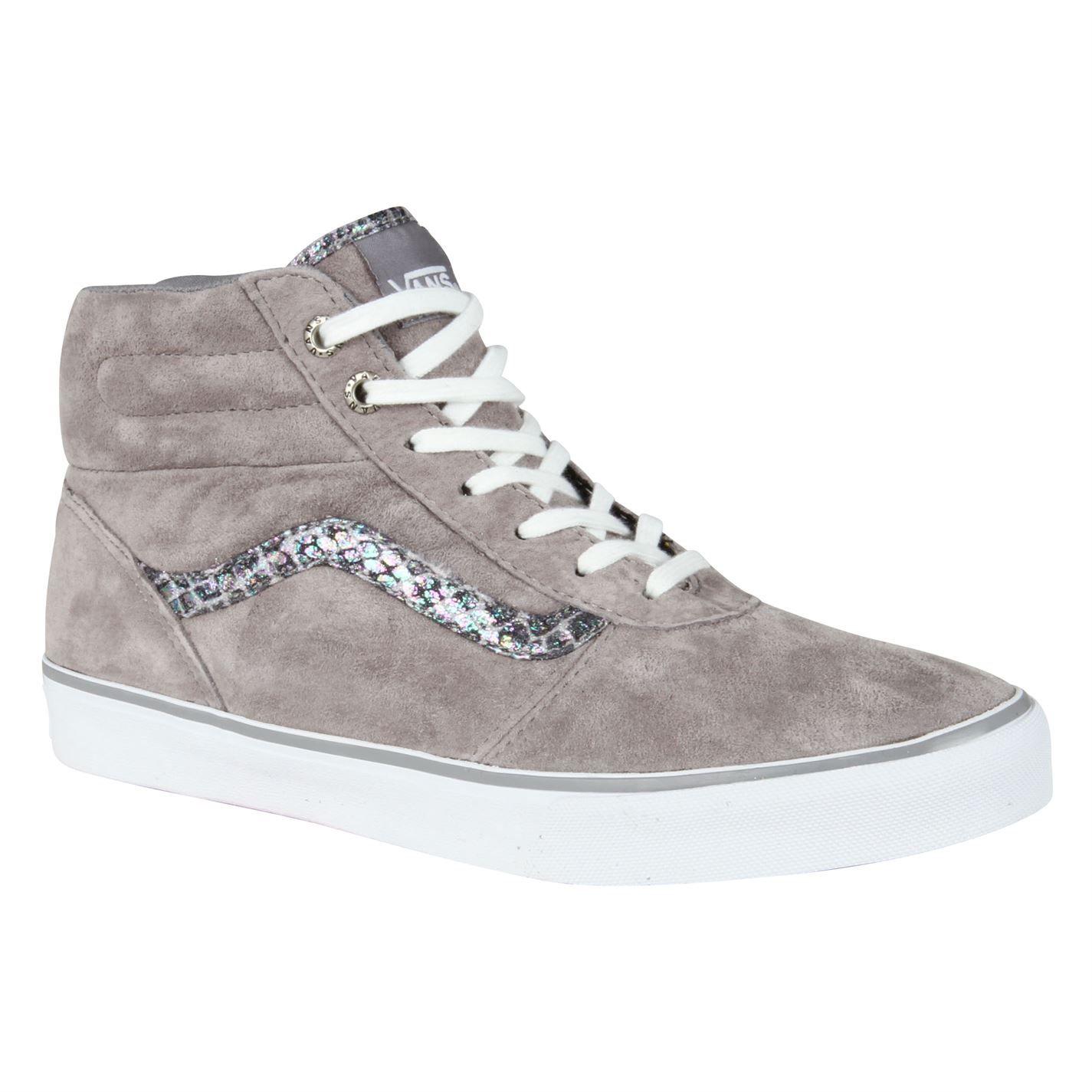 Vans Womens Grey Skate Shoes Milton Hi Snake Trainers Snake Ladies