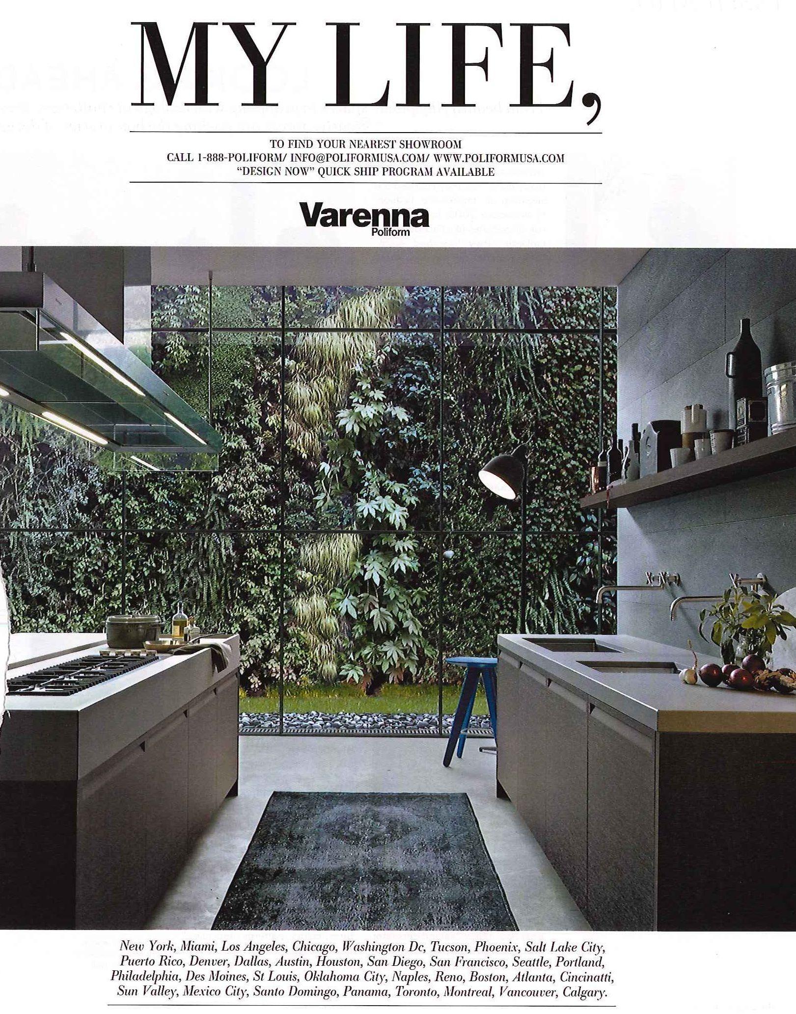 Plant Wall - Elle Decor   المطبخ   Pinterest