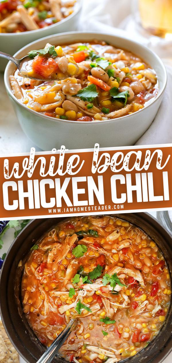 White Bean Chicken Chili Recipe Comfort Food Recipes Dinners Recipes White Bean Chicken Chili
