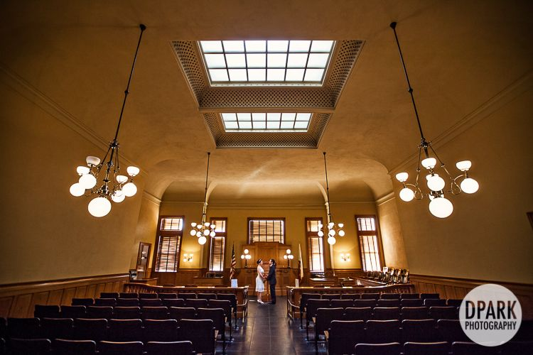 Oc Santa Ana Old Orange County Courthouse Intimate Wedding With Bride Groom Elopement And Family Small