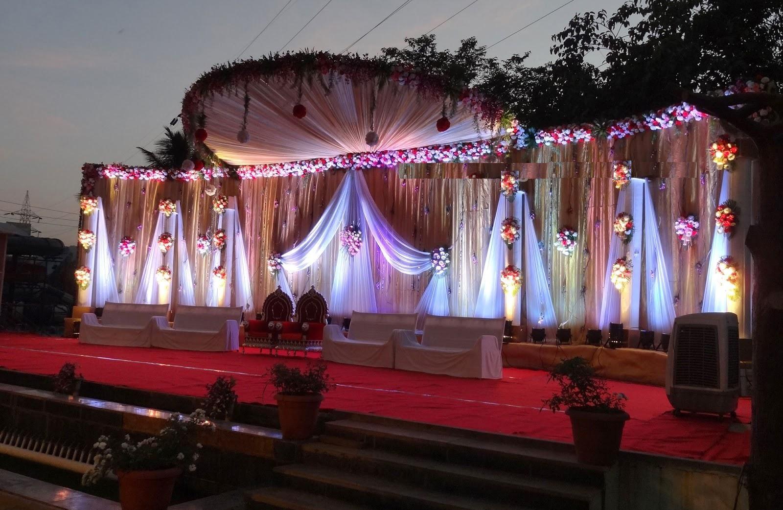 1 evening wedding stage decoration idea in garden rb group 1 evening wedding stage decoration idea in garden junglespirit Image collections