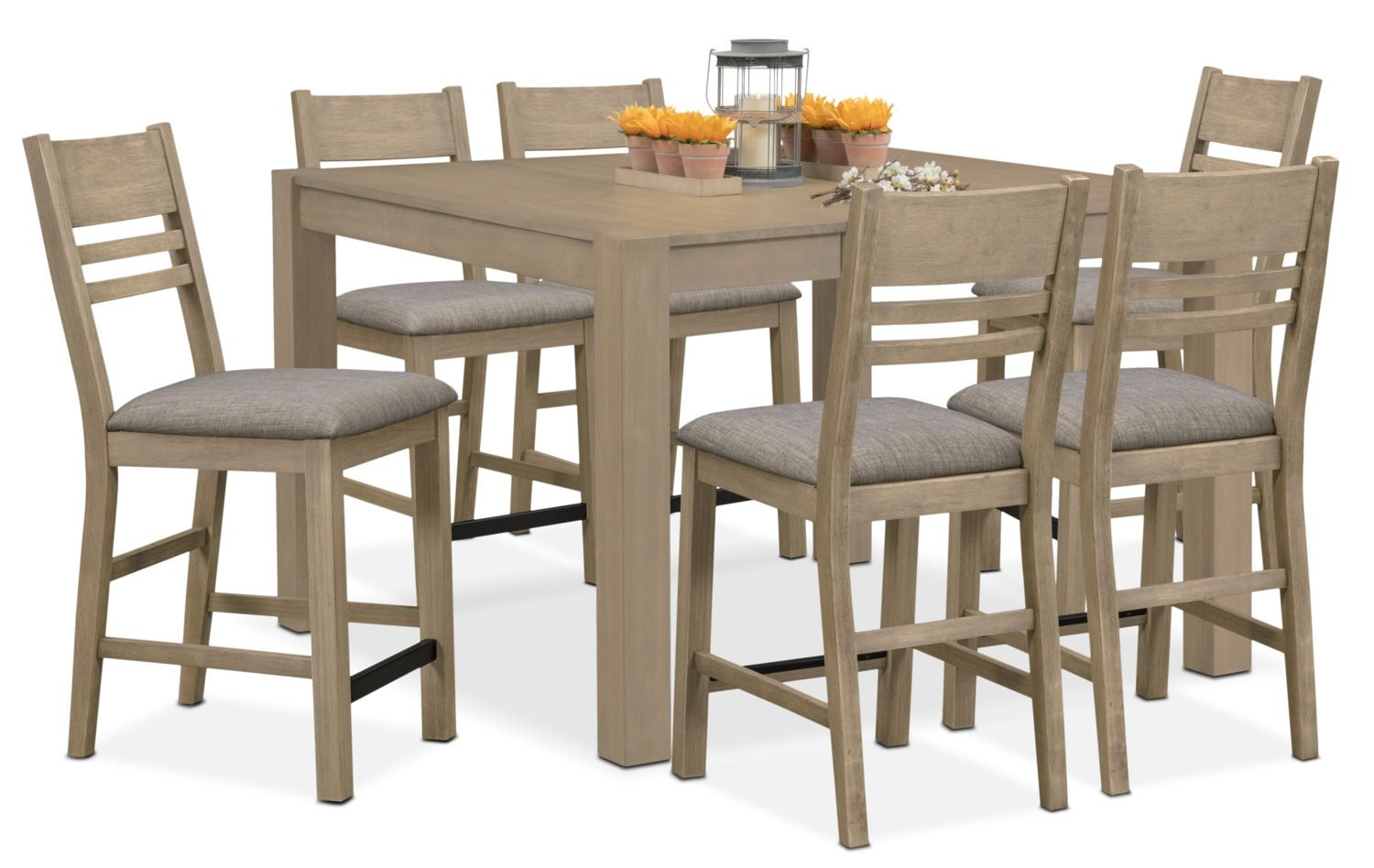 tribeca counterheight dining table and 6 dining chairs