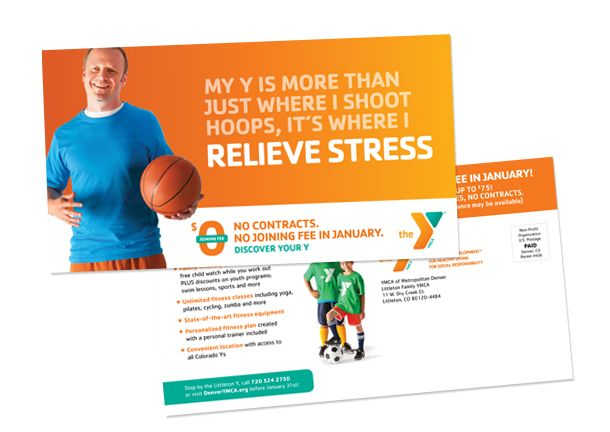 Ymca January Membership Campaign Upandupcreative Com Ymca How To Relieve Stress Direct Mail Postcards