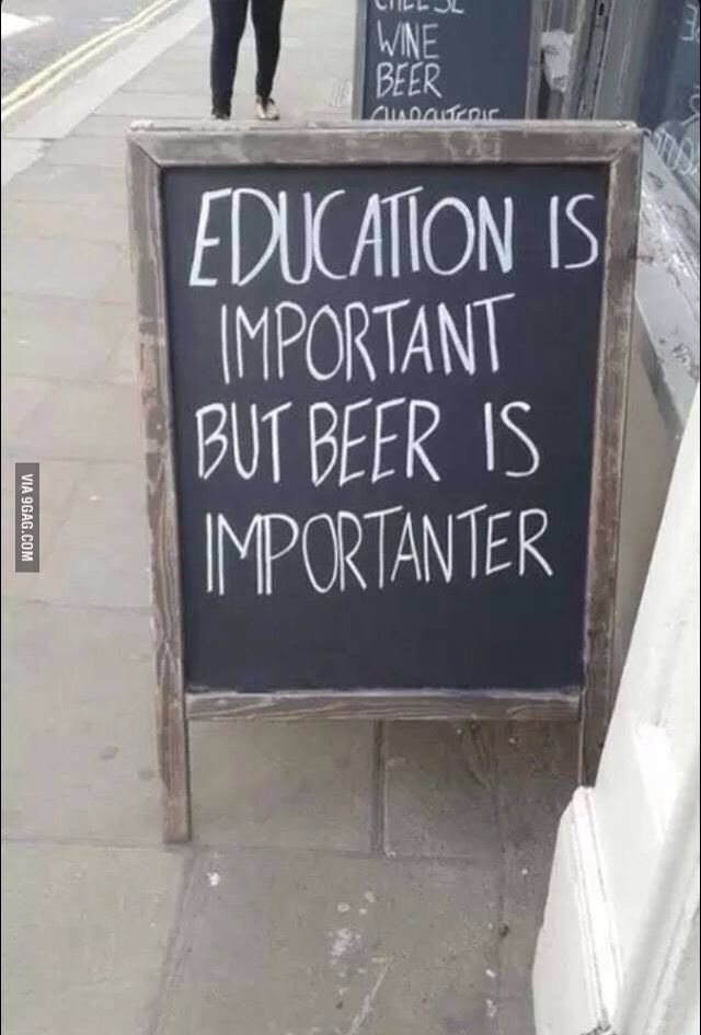 Beer is importanter (With images) Beer quotes funny