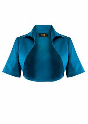 1950s Bolero Jacket - Teal | żakiet | Pinterest | Boleros, 1950s and ...