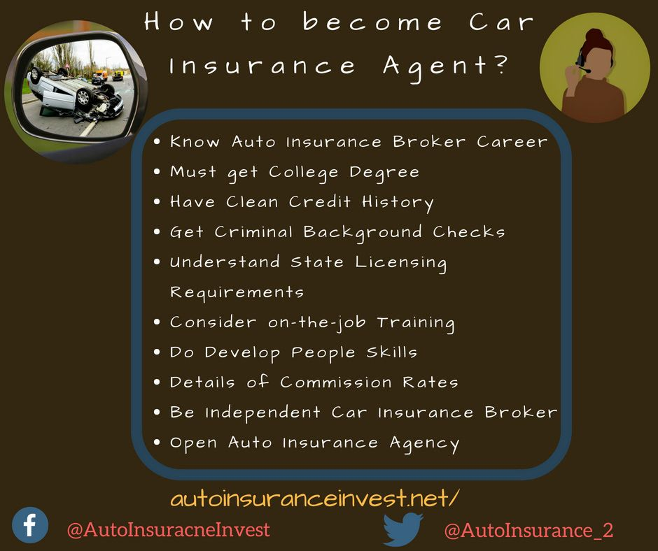 How To Become Car Insurance Agent Insurance Agent Car