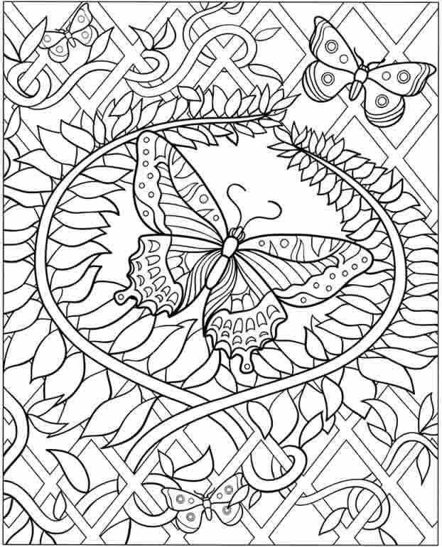 Ausmalbilder Schwer Schmetterling 01 | ausmalbilder | Pinterest ...