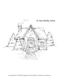 garden winter coloring pages | winter cottages colouring pages - Google Search | Art ...