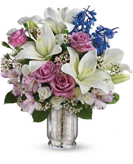 Teleflora's Garden Of Dreams Bouquet - gorgeous purple, lavender, blue and white #flowers.
