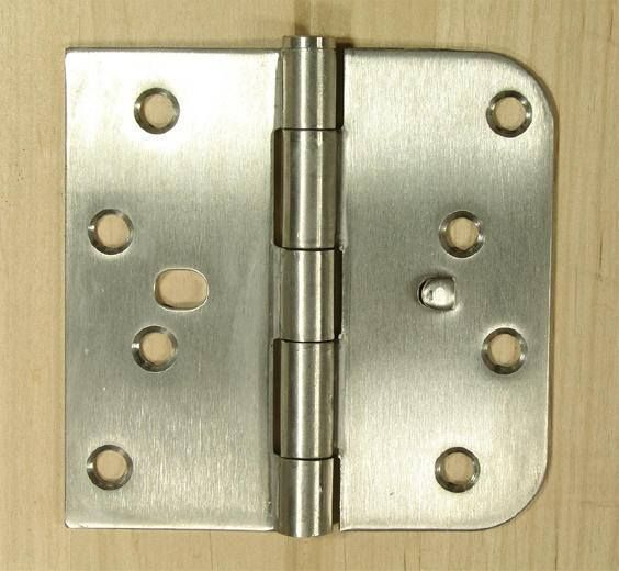 Non-Removable Pin 4 x 4 with 5//8 Radius Stainless Steel Door Hinges 2 Pack