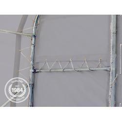 Photo of Zelthalle 10x20m Pvc 720 g/m² grau wasserdicht Industriezelt Toolport